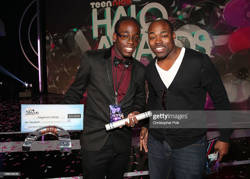 Award Honoree Raymone George (L) attends Nickelodeon's 2012 TeenNick HALO Awards at Hollywood Palladium on November 17, 2012 in Hollywood, California. The show premieres on Monday, November 19th, 8:00p.m. (ET) on Nick at Nite.