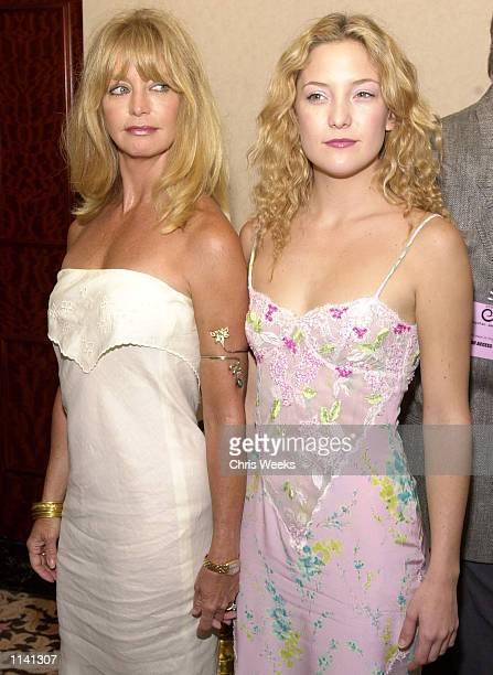 Award hosts Goldie Hawn and Kate Hudson arrive at the 'Women in Film's Annual Crystal Awards Luncheon at the Century Plaza Hotel in Century City CA...