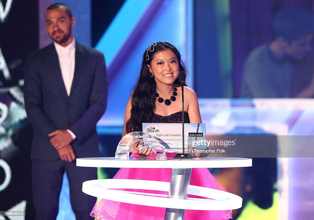Award Nominee Kylie Lan Tumiatti speaks onstage during Nickelodeon's 2012 TeenNick HALO Awards at Hollywood Palladium on November 17, 2012 in Hollywood, California. The show premieres on Monday, November 19th, 8:00p.m. (ET) on Nick at Nite.