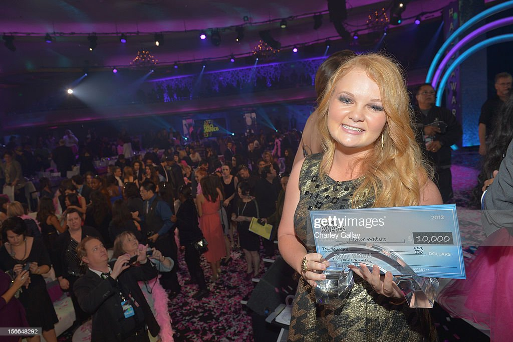 Award Nominee Taylor Waters attends Nickelodeon's 2012 TeenNick HALO Awards at Hollywood Palladium on November 17, 2012 in Hollywood, California. The show premieres on Monday, November 19th, 8:00p.m. (ET) on Nick at Nite.