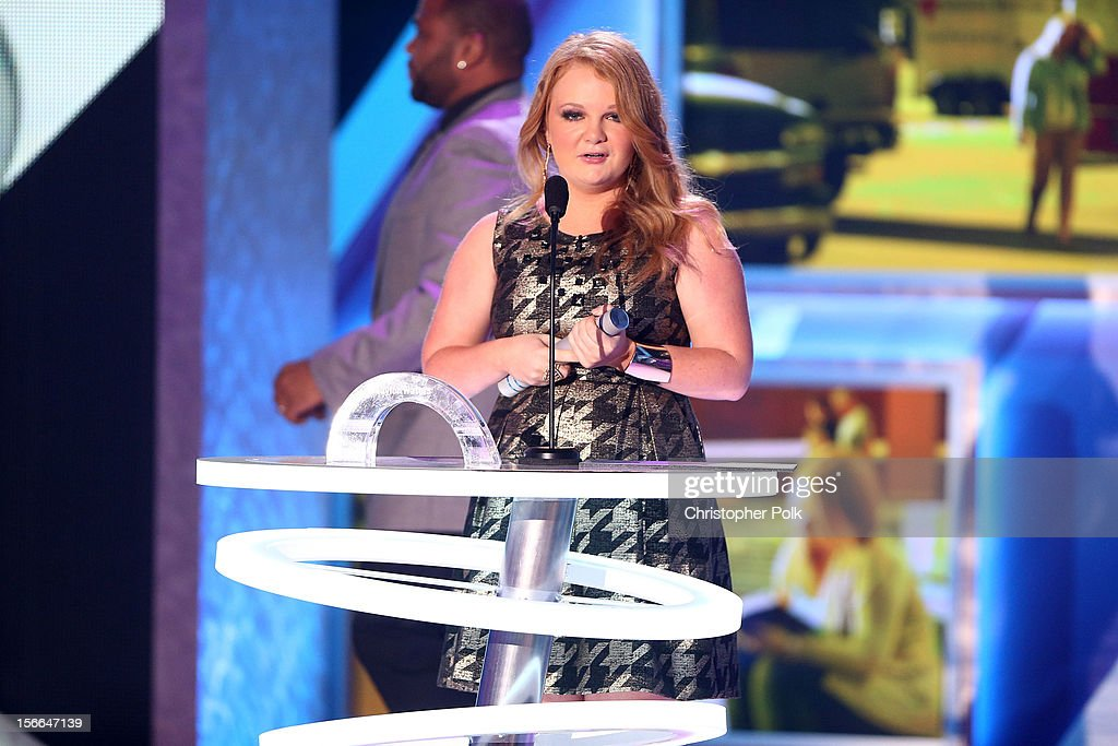 Award Nominee Taylor Watersi speaks onstage at Nickelodeon's 2012 TeenNick HALO Awards at Hollywood Palladium on November 17, 2012 in Hollywood, California. The show premieres on Monday, November 19th, 8:00p.m. (ET) on Nick at Nite.