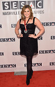 Award recipient Hillary Scott of Lady Antebellum attends the SESAC 2014 Nashville Music Awards at Country Music Hall of Fame and Museum on November 2...