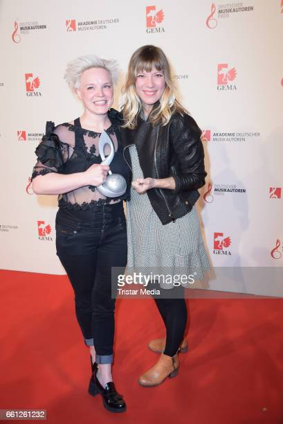 Award winner composition Rock and Pop Wallis Bird and Maria Mummert alias Mieze Katz during the 9th GEMA Musikautorenpreis at Ritz Carlton on March...