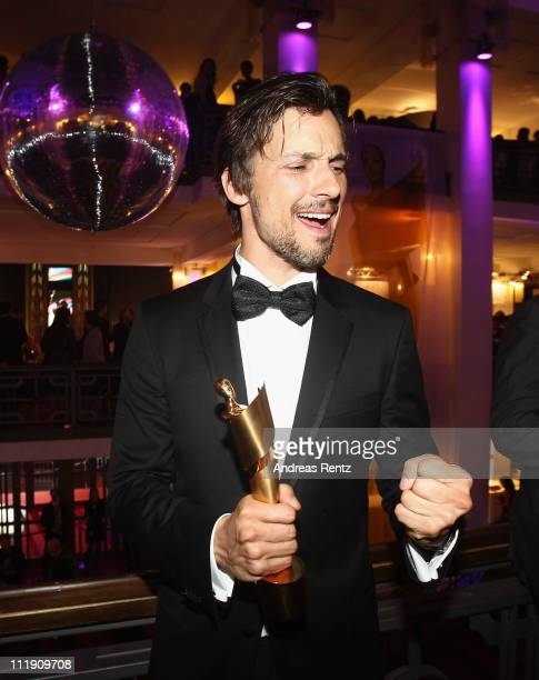 Award winner Florian David Fitz attends the German Film Awards party at Friedrichstadtpalast on April 8 2011 in Berlin Germany