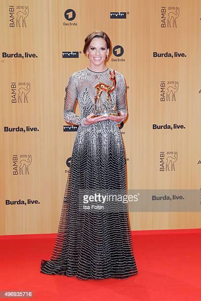 Award winner Hilary Swank attends the Kryolan At Bambi Awards 2015 Red Carpet Arrivals on November 12 2015 in Berlin Germany