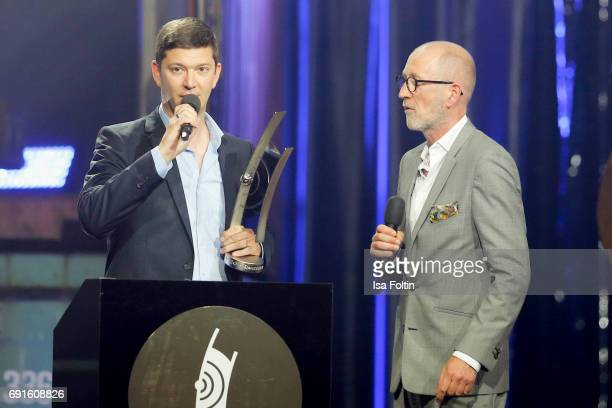 Award winner instrumental national guitar and German actor Peter Lohmeyer during the Echo Jazz 2017 on June 1 2017 in Hamburg Germany