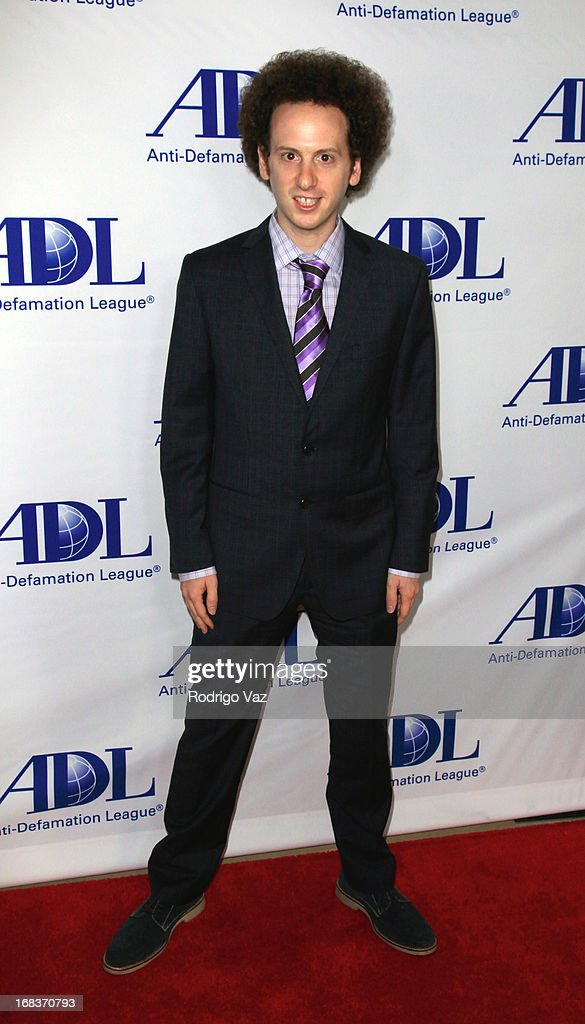 Award Winner <a gi-track='captionPersonalityLinkClicked' href=/galleries/search?phrase=Josh+Sussman&family=editorial&specificpeople=5756661 ng-click='$event.stopPropagation()'>Josh Sussman</a> arrives at the Anti-Defamation League Centennial Entertainment Industry Awards Dinner at The Beverly Hilton Hotel on May 8, 2013 in Beverly Hills, California.