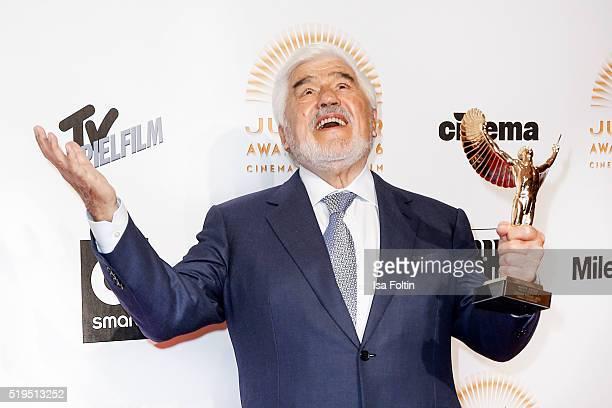 Award winner Mario Adorf and smart attends the Jupiter Award 2016 on April 06 2016 in Berlin Germany