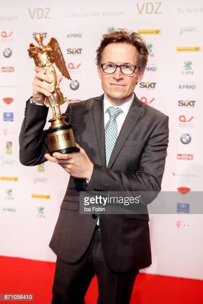 Award winner Markus Mosa during the VDZ Publishers' Night at Deutsche Telekom's representative office on November 6 2017 in Berlin Germany