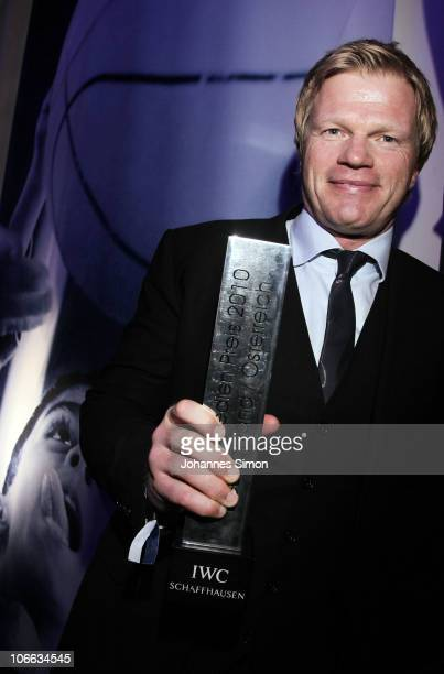 Award winner Oliver Kahn poses with the trophy during the Laureus Media Award 2010 at Grand Tirolia Golf Ski Resort on November 8 2010 in Kitzbuehel...