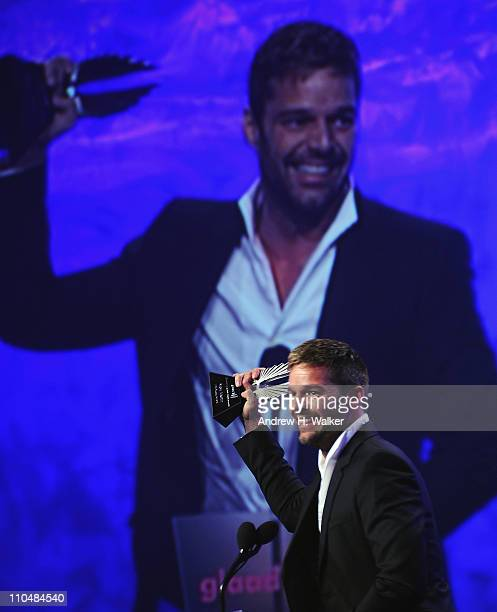 Award winner Ricky Martin speaks onstage at the 22nd Annual GLAAD Media Awards at The New York Marriott Marquis on March 19 2011 in New York City