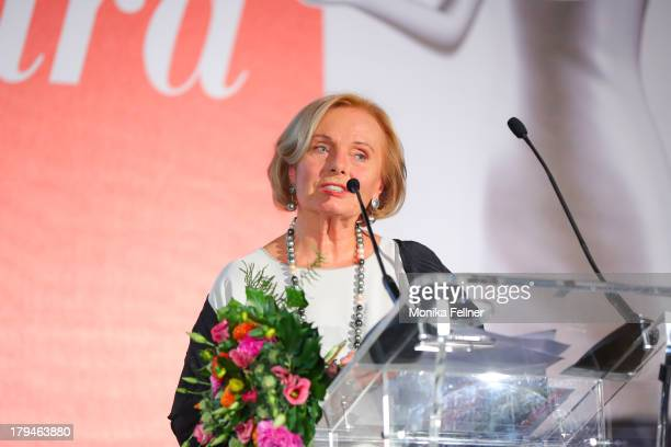 Award winner Ruth Maria Kubitschek speaks during the Leading Ladies Awards 2013 at Belvedere Palace on September 3 2013 in Vienna Austria