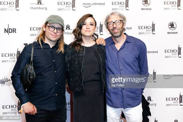 Award winner singer national Lucia Cadotsch with members of her band during the Echo Jazz 2017 onJune 1 2017 in Hamburg Germany
