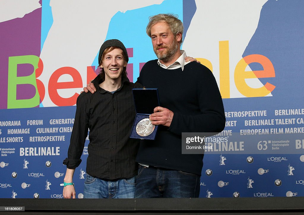 Award winner Stefan Kriekhaus with his award at the Award Winners Press Conference during the 63rd Berlinale International Film Festival at Grand Hyatt Hotel on February 14, 2013 in Berlin, Germany.