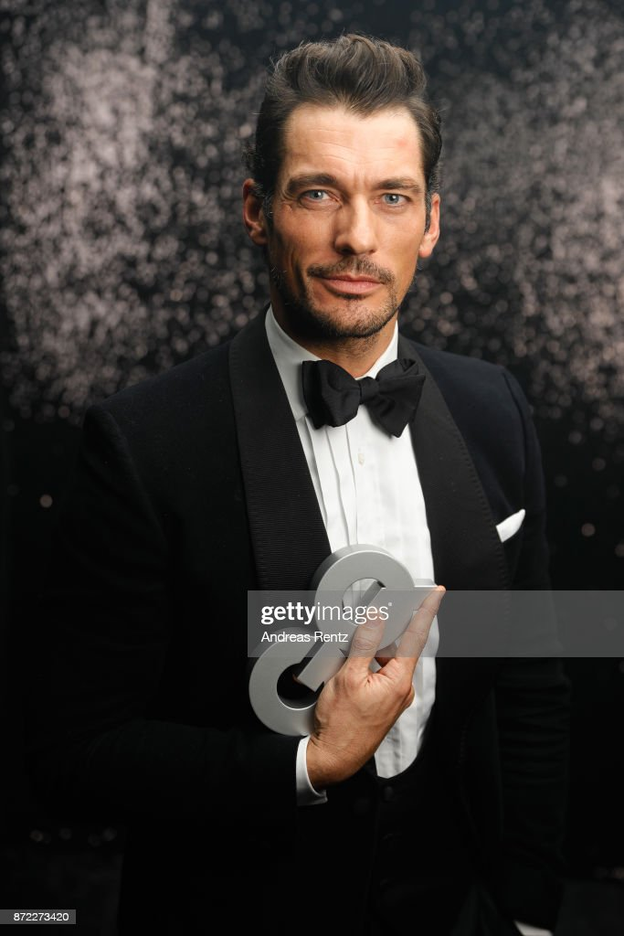 Award winner 'Style Icon' David Gandy poses backstage at the GQ Men of the year Award 2017 at Komische Oper on November 9, 2017 in Berlin, Germany.