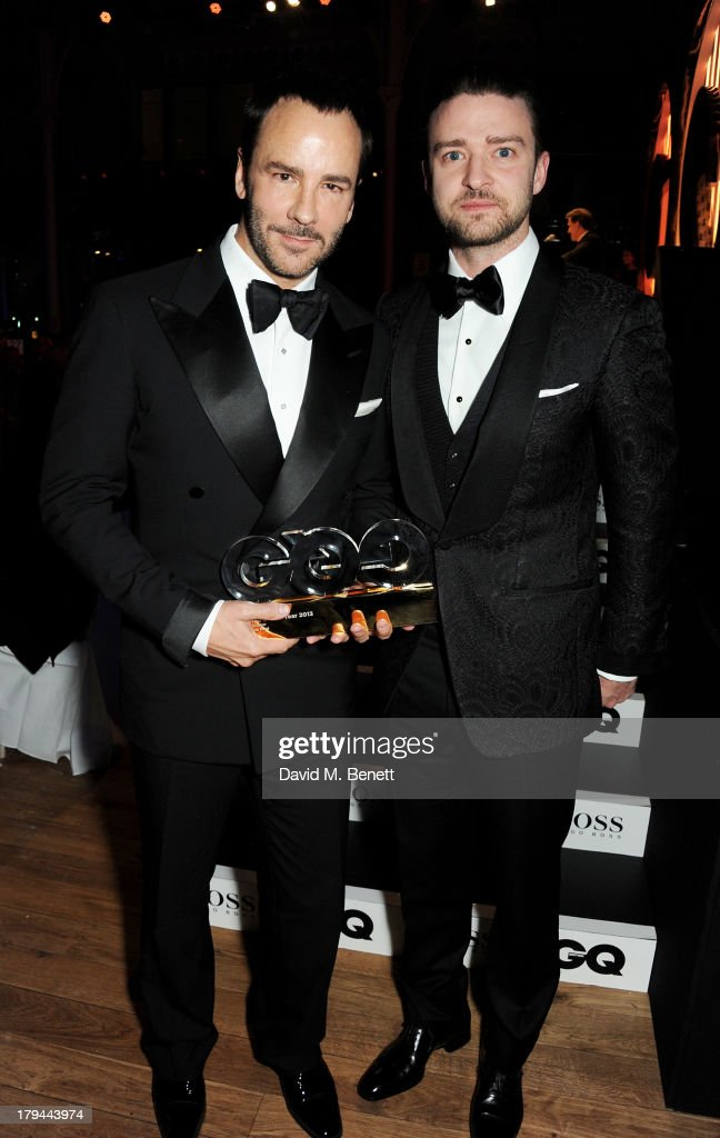 Award winner Tom Ford (L) and <a gi-track='captionPersonalityLinkClicked' href=/galleries/search?phrase=Justin+Timberlake&family=editorial&specificpeople=157482 ng-click='$event.stopPropagation()'>Justin Timberlake</a> attend the GQ Men of the Year awards at The Royal Opera House on September 3, 2013 in London, England.