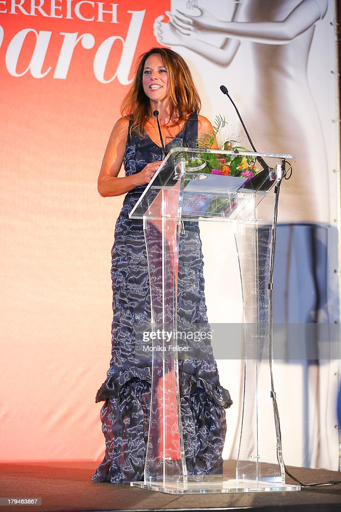 Award winner Vera Russwurm speaks during the Leading Ladies Awards 2013 at Belvedere Palace on September 3, 2013 in Vienna, Austria.