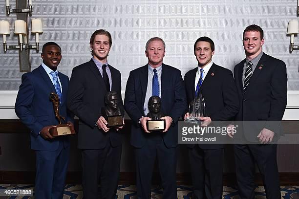Award winners Chase Edmonds of Fordham John Robertson of Villanova University Coach Sean McDonnell of New Hampshire Zach Zenner of South Dakota State...