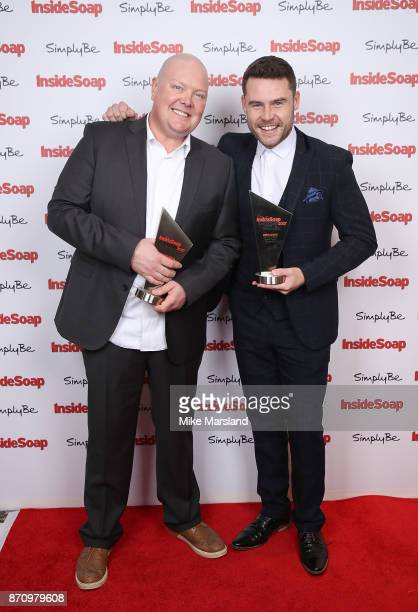 Award winners Dominic Brunt and Danny Miller attend the Inside Soap Awards held at The Hippodrome on November 6 2017 in London England