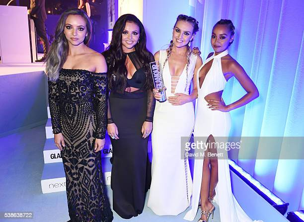 Award winners Jade Thirlwall Jesy Nelson Perrie Edwards and LeighAnne Pinnock of Little Mix attend the Glamour Women Of The Year Awards in Berkeley...