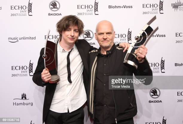 Award winners Michael Wollny and Lars Danielsson during the Echo Jazz 2017 on June 1 2017 in Hamburg Germany