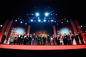 Award winners on stage during the Closing Ceremony of the 65th Berlinale International Film Festival at Berlinale Palace on February 14 2015 in...