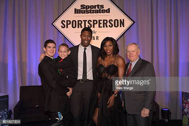 Award winners SI High School Athlete of the Year Hunter Gandee with brother Braden Gandee SI Kids 2015 SportsKid of the Year Reece Whitley SI 2015...