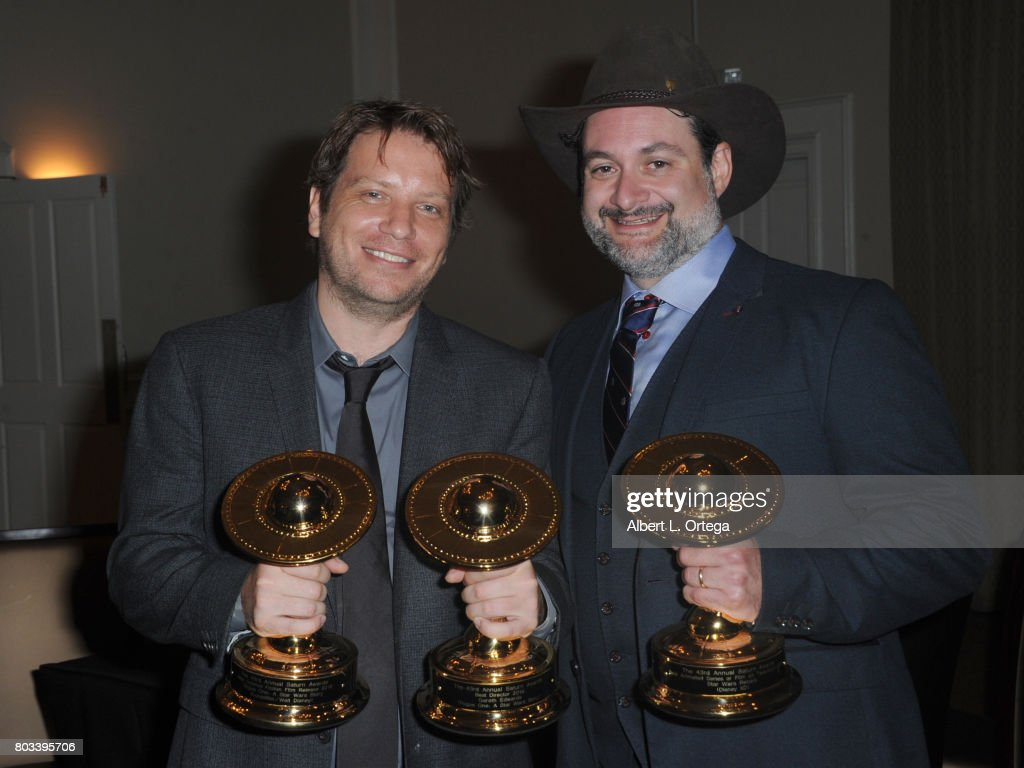 Award winning directors Gareth Williams and Dave Filoni of 'Rogue One' and 'Star Wars Rebels' attend the 43rd Annual Saturn Awards - After Party held at The Castaway on June 28, 2017 in Burbank, California.