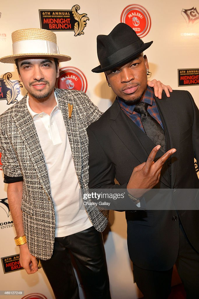 Award winning R&B recording artist <a gi-track='captionPersonalityLinkClicked' href=/galleries/search?phrase=Ne-Yo&family=editorial&specificpeople=451543 ng-click='$event.stopPropagation()'>Ne-Yo</a> and <a gi-track='captionPersonalityLinkClicked' href=/galleries/search?phrase=DJ+Cassidy&family=editorial&specificpeople=691457 ng-click='$event.stopPropagation()'>DJ Cassidy</a> (L) enjoyed Malibu Red cocktails at the annual Midnight Grammy Brunch at Lure Nightclub on January 26, 2014 in Hollywood, California.