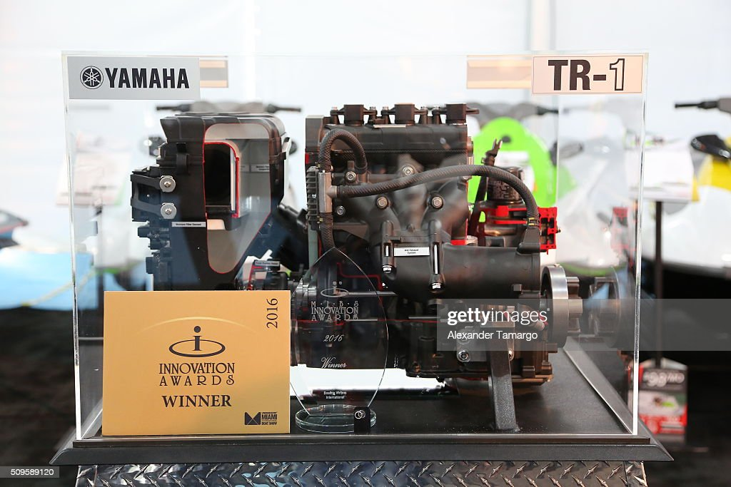 Award winning TR-1 engine at the Miami International Boat Show on February 11, 2016 in Miami, Florida.
