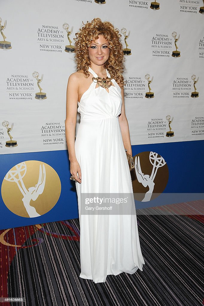 Award winning violinist <a gi-track='captionPersonalityLinkClicked' href=/galleries/search?phrase=Miri+Ben-Ari&family=editorial&specificpeople=215044 ng-click='$event.stopPropagation()'>Miri Ben-Ari</a> attends the 57th Annual New York Emmy Awards at Marriott Marquis Times Square on March 30, 2014 in New York City.