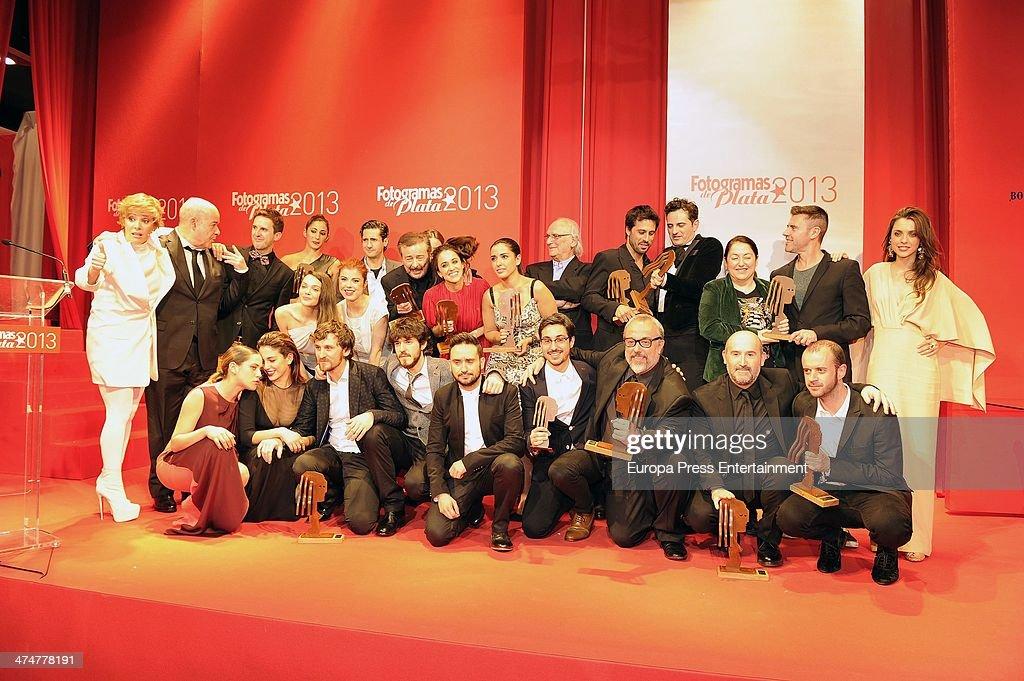 Awarded attend Fotogramas Awards 2013 at Joy Eslava Club on February 24 2014 in Madrid Spain