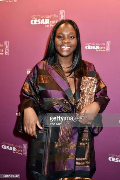 Awarded Deborah Lukumuena from 'Divines ' attends the Cesar's after party at Le Queen Club on February 24 2017 in Paris France