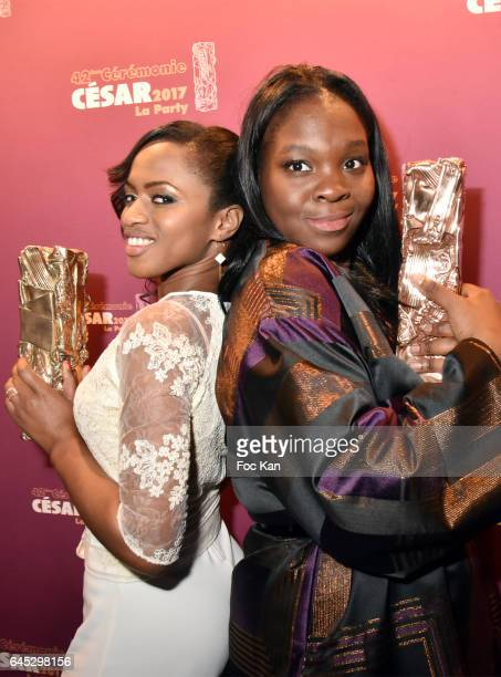 Awarded director Maimouna Doucoure for the best Short Movie 'Maman' and Deborah Lukumuena from 'Divines ' attend the Cesar's after party at Le Queen...