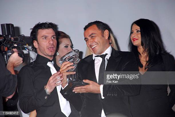 Awarded Michael Youn Muratt Atik and Guests attend the Trophees de La Nuit 2007 Ceremony Dinner Party at the Lido Cabaret on November 19 2007 in...