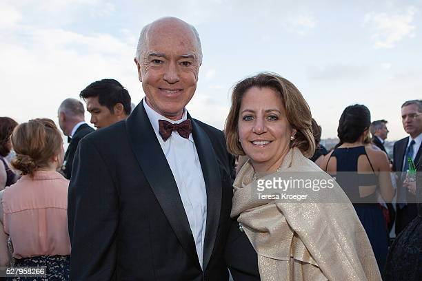 Awardee David G Bradley and Lisa Monaco attend the James W Foley Freedom Awards at The Newseum on May 3 2016 in Washington DC The James W Foley...