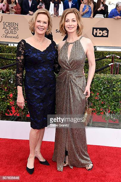 Awards chair JoBeth Williams and Sharon Lawrence attends the 22nd Annual Screen Actors Guild Awards at The Shrine Auditorium on January 30 2016 in...