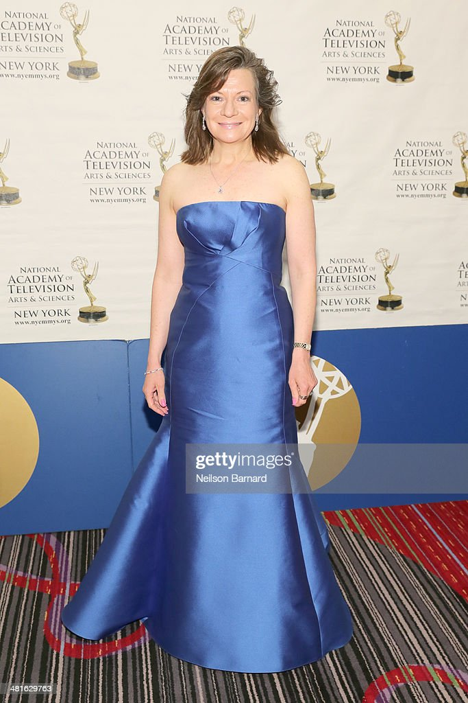 Awards Committee Co-Chair Denise Rover arrives at the 57th Annual New York Emmy awards at Marriott Marquis Times Square on March 30, 2014 in New York City.