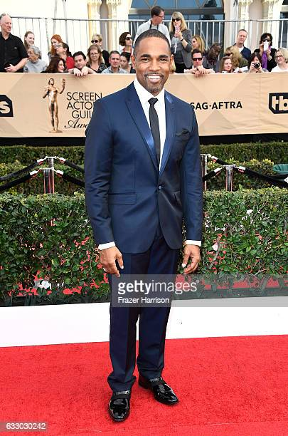 Awards Committee Member Jason George attends The 23rd Annual Screen Actors Guild Awards at The Shrine Auditorium on January 29 2017 in Los Angeles...