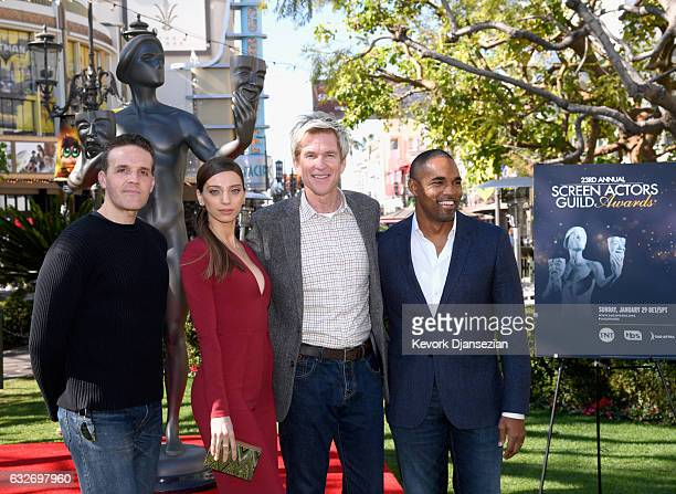 SAG Awards Committee Member Woody Schultz SAG Award Nominee Angela Sarafyan SAG Award Nominee Matthew Modine and SAG Awards Committee Member Jason...