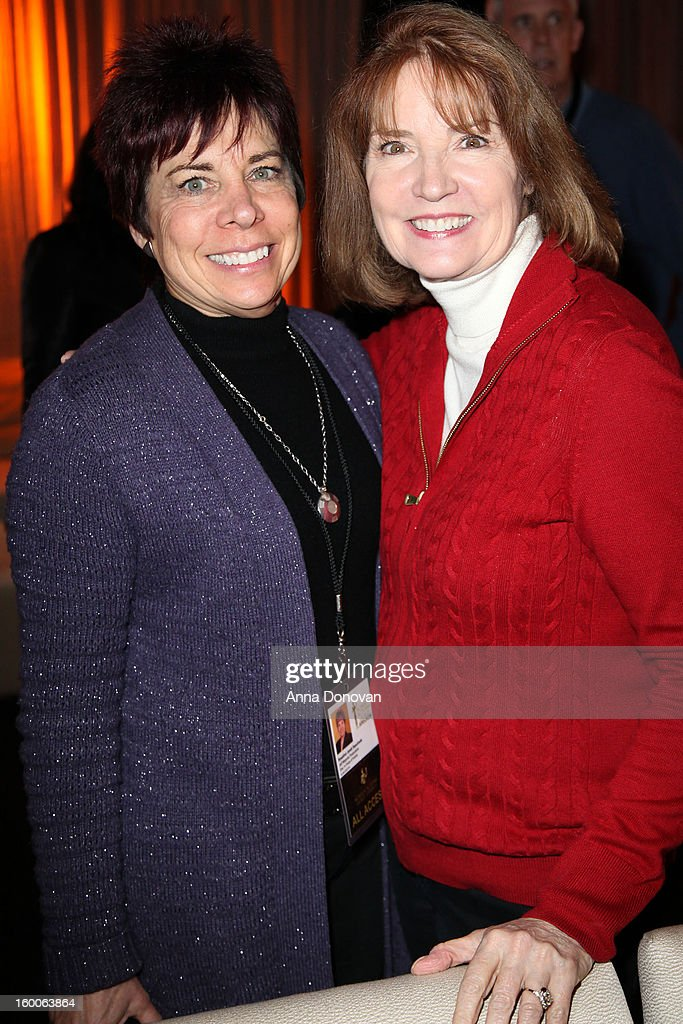 Awards executive in charge of publicity Rosalind Jarrett Sepulveda and SAG Awards producer Kathy Connell attend Award ceremony and Gala behind-the-scenes set up for the 19th Annual Screen Actors Guild Awards at The Shrine Expo Hall on January 25, 2013 in Los Angeles, California.