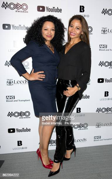 Awards founder Kanya King and Emma Weymouth attending the Mobo Awards 2017 Nominations at the YouTube Space London