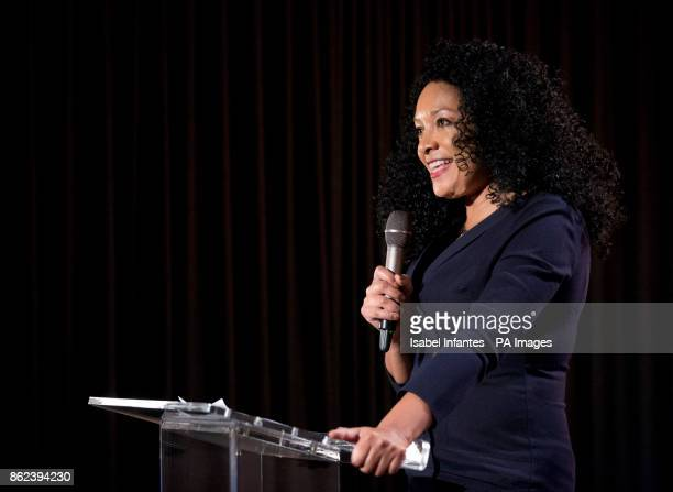 Awards founder Kanya King speaks during the Mobo Awards 2017 Nominations at the YouTube Space London