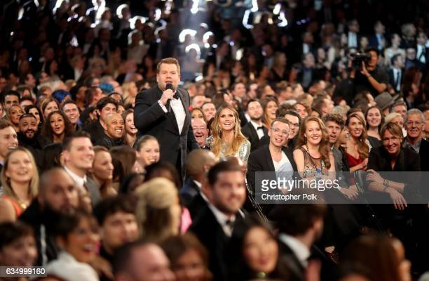 Awards host James Corden during The 59th GRAMMY Awards at STAPLES Center on February 12 2017 in Los Angeles California