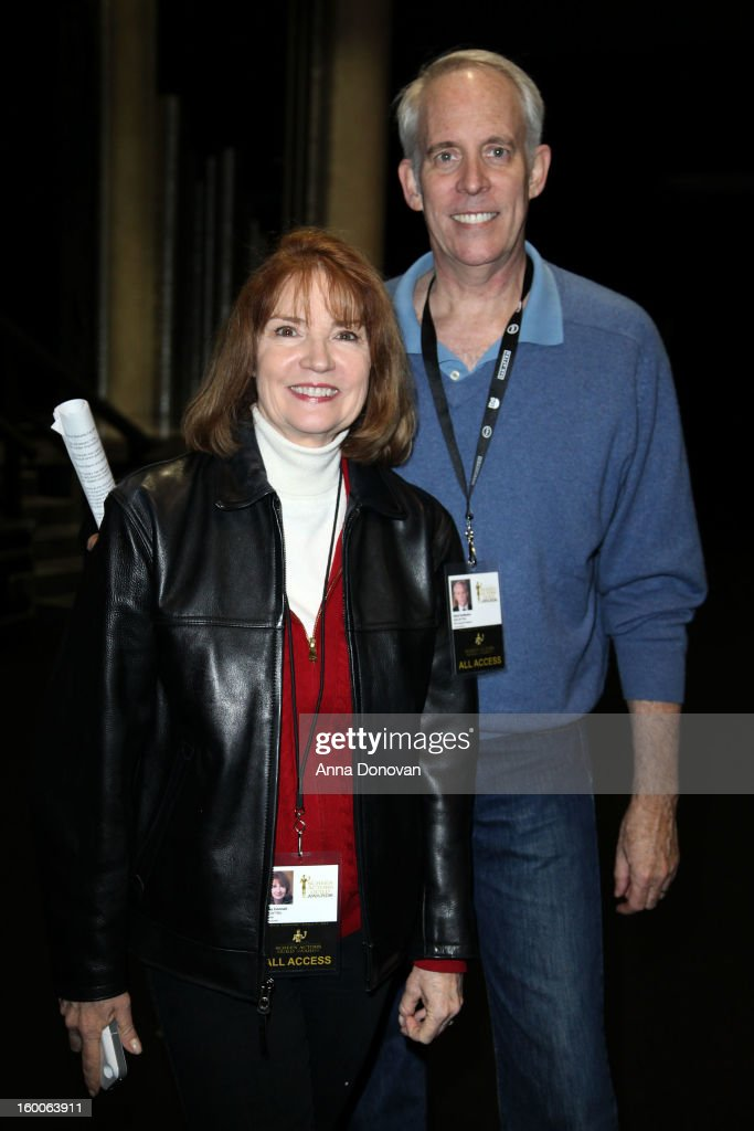 Awards producer Kathy Connell and SAG Awards Committee vice-chair Daryl Anderson attend Award ceremony and Gala behind-the-scenes set up for the 19th Annual Screen Actors Guild Awards at The Shrine Expo Hall on January 25, 2013 in Los Angeles, California.