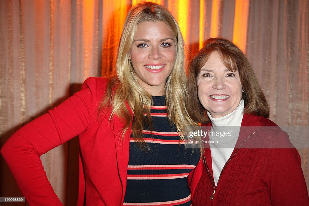 Awards social media ambassador <a gi-track='captionPersonalityLinkClicked' href=/galleries/search?phrase=Busy+Philipps&family=editorial&specificpeople=216133 ng-click='$event.stopPropagation()'>Busy Philipps</a> and SAG Awards producer Kathy Connell attend Award ceremony and Gala behind-the-scenes set up for the 19th Annual Screen Actors Guild Awards at The Shrine Expo Hall on January 25, 2013 in Los Angeles, California.