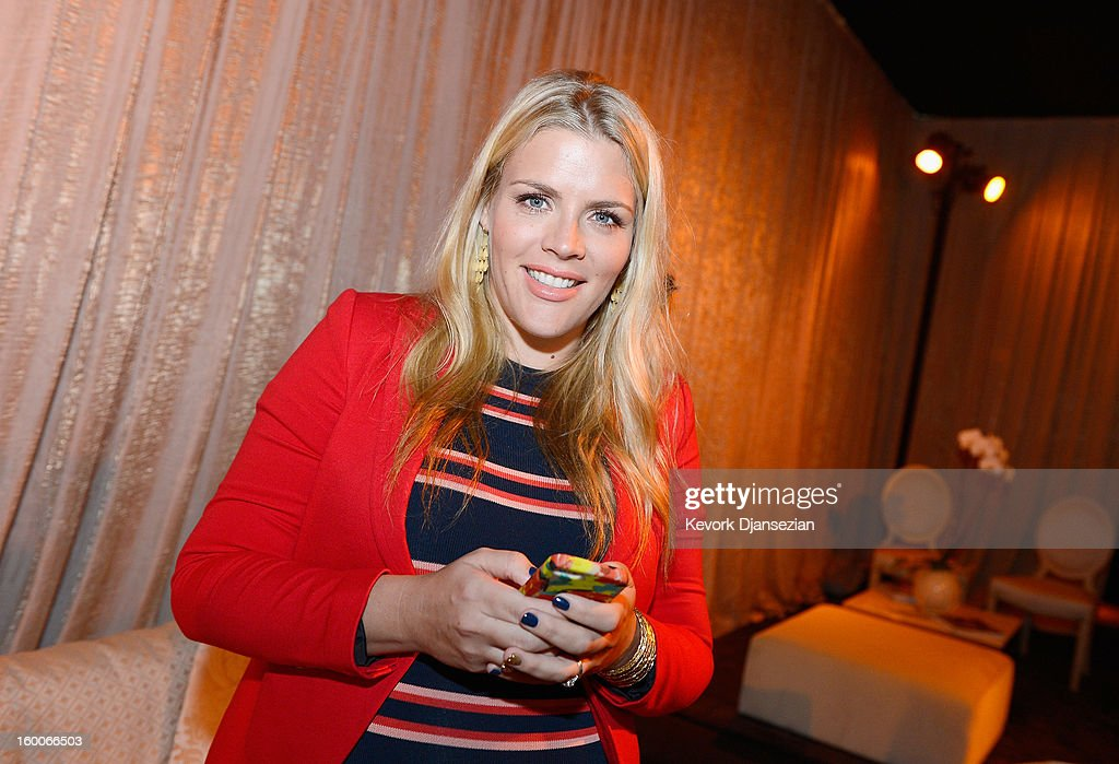 Awards social media ambassador Busy Philipps attends the 19th Annual Screen Actors Guild Awards during the 19th Annual Screen Actor Guild Awards ceremony behind the scenes event at The Shrine Auditorium on January 25, 2013 in Los Angeles, California.