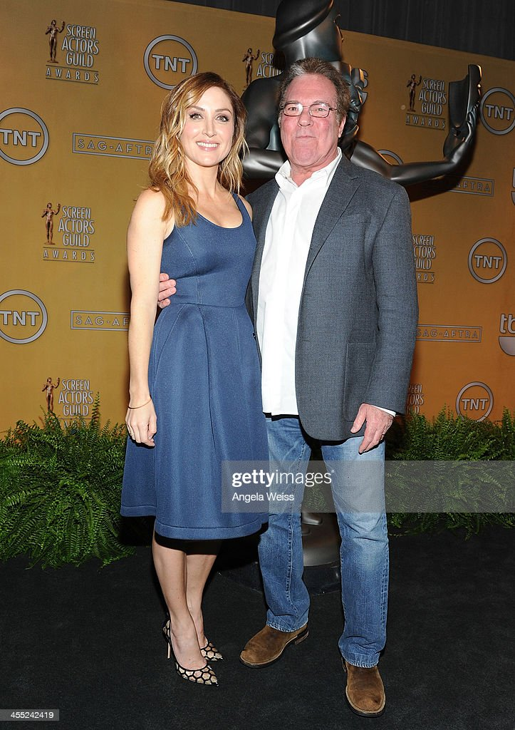 SAG Awards Social Media Ambassador Sasha Alexander and SAG Awards Executive Producer Jeff Margolis attend the 20th Annual Screen Actors Guild Awards Nominations Announcement at Pacific Design Center on December 11, 2013 in West Hollywood, California.