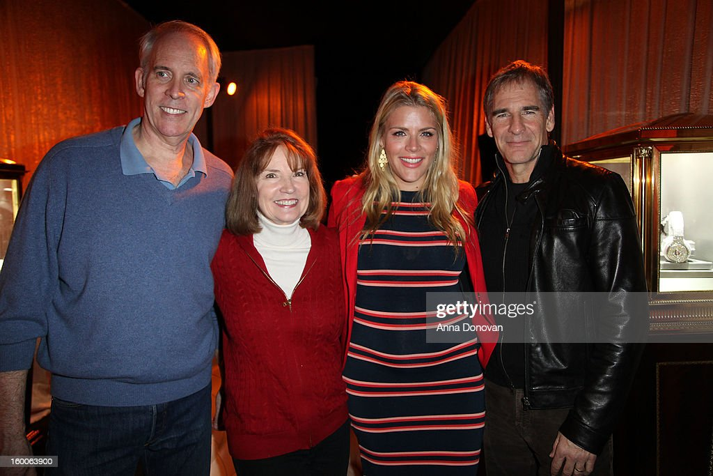SAG Awards Vice-chair Daryl Anderson, producer Kathy Connell, social media ambassador <a gi-track='captionPersonalityLinkClicked' href=/galleries/search?phrase=Busy+Philipps&family=editorial&specificpeople=216133 ng-click='$event.stopPropagation()'>Busy Philipps</a> and committee member <a gi-track='captionPersonalityLinkClicked' href=/galleries/search?phrase=Scott+Bakula&family=editorial&specificpeople=217589 ng-click='$event.stopPropagation()'>Scott Bakula</a> attend Award ceremony and Gala behind-the-scenes set up for the 19th Annual Screen Actors Guild Awards at The Shrine Expo Hall on January 25, 2013 in Los Angeles, California.