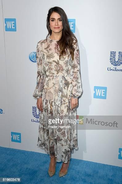 Awardwinning actress and producer Nikki Reed walks the WE Carpet at WE Day California 2016 at The Forum on April 7 2016 in Inglewood California